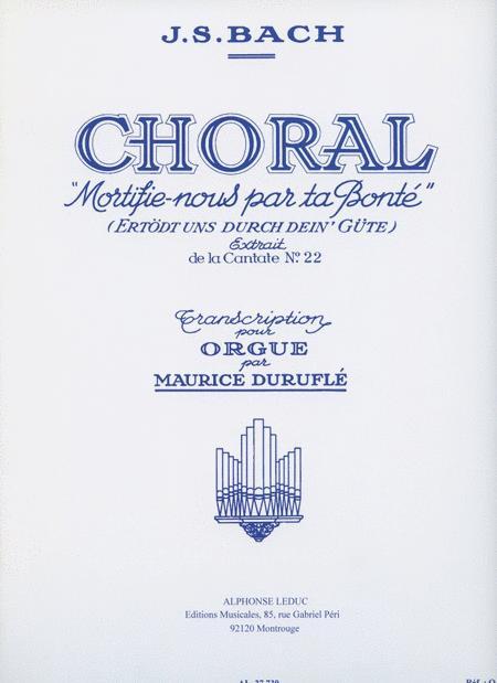Bach Choral Cantata 22 (durufle) Org