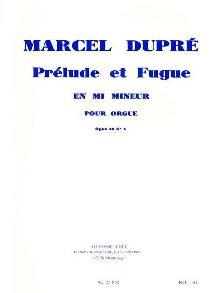 3 Preludes Et Fugues Op.36, No.1 In E Minor (organ)