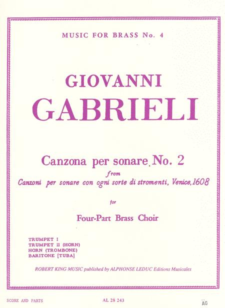 Canzona Per Sonare No. 2 for Four-Part Brass Choir