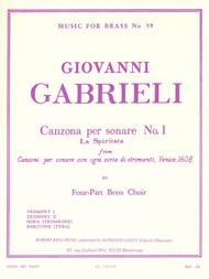 Canzona Per Sonare No. 1, For Four-part Brass Choir