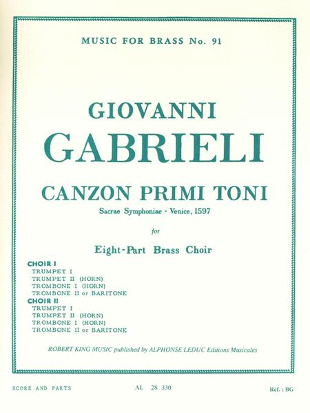 Canzon Primi Toni, Sacred Symphony, For Eight-part Brass Choir