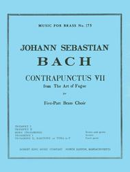 Bach Js King Art Of Fugue Contrapunctus 7 Brass Quintet Mfb175 Sc/pts