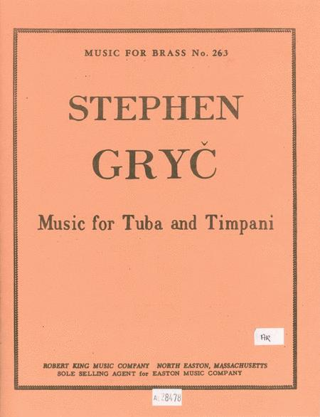 Music For Tuba & Timpani (tuba & Percussion)