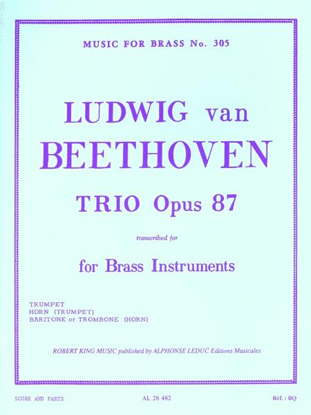 Trio, Op. 87, Transcribed For Brass Instruments By Robert King