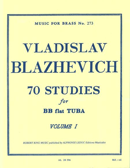 70 Studies for Bb Tuba - Volume I
