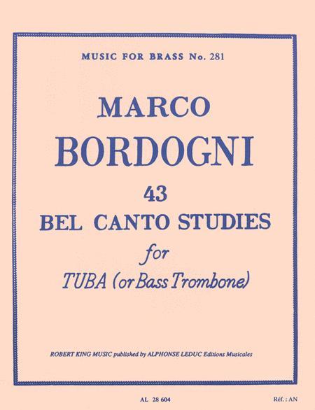 43 Bel Canto Studies for Tuba or Bass Trombone