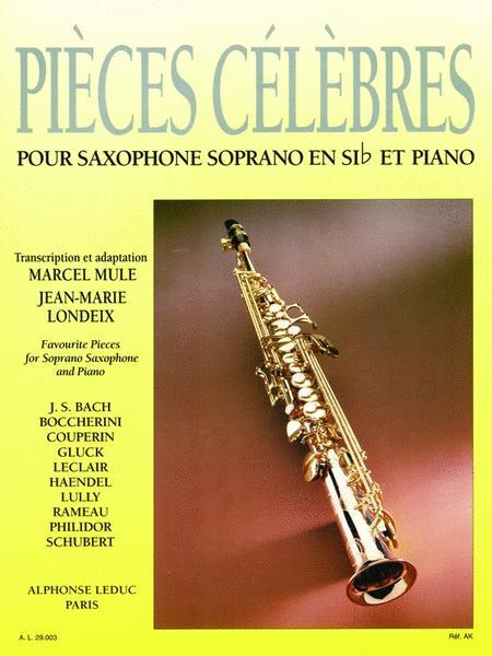 Pieces Celebres Pour Saxophone Soprano