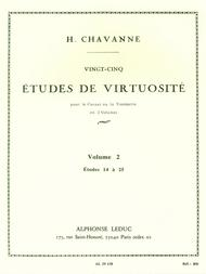 Chavanne 25 Etudes De Virtuosite Volume 2 14 A 25 Trumpet Or Cornet Bk
