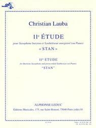 Study No. 11, Stan, For Baritone Saxophone And Prerecorded Synthe