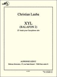 Xyl Balafon 2, 12th Study For Alto Saxophone Avec Cd Al30369