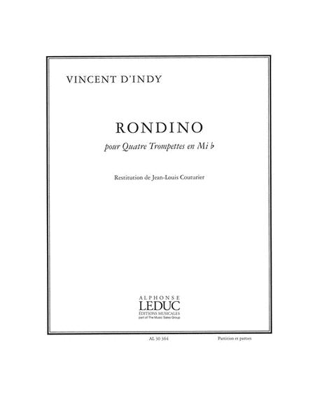 Indy Vincent D' Rondino 4 Trumpets In E Flat Score/parts