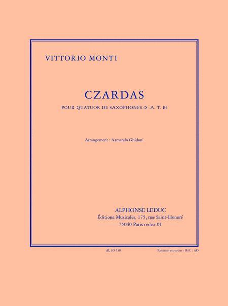 Czardas (5'30'') Arrangement De A. Ghidoni Pour 4 Saxophones (s.a.t.b.) (partiti