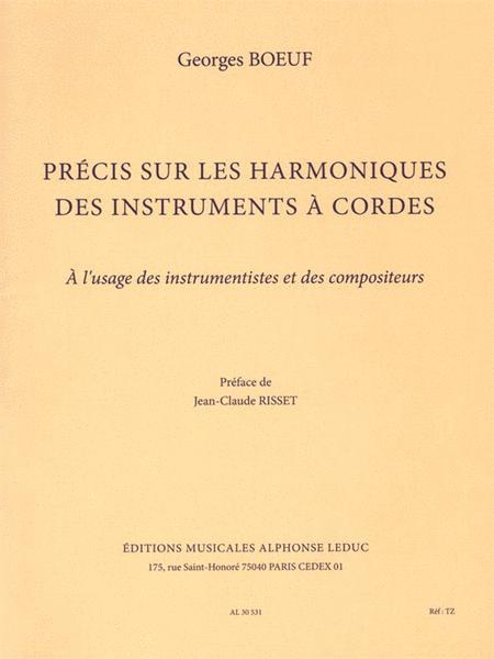 Precis Sur Les Harmoniques Des Instruments A Cordes A L'usage Des Instrumentiste