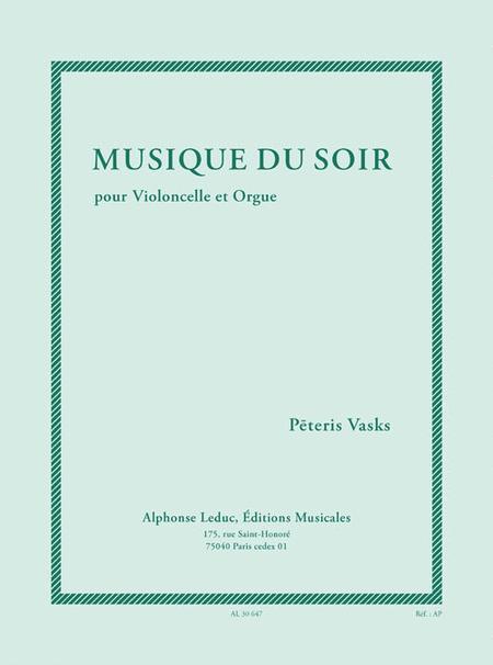 Musique Du Soir (7e/8e) Pour Violoncelle Et Orgue