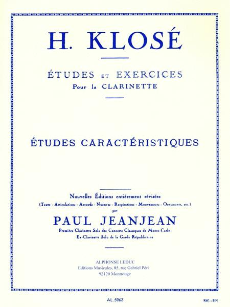 Studies And Exercises For Clarinet (characteristic Studies) With Revis