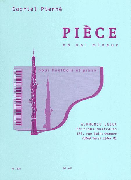 Piece In G Minor (oboe And Piano)