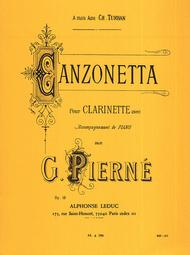 Gabriel Pierne - Canzonetta Pour Clarinette Et Piano