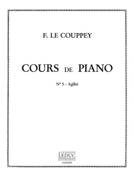 Le Couppey Cours De Piano No 5 L'agilite 25 Etudes Progressives Pf Bk