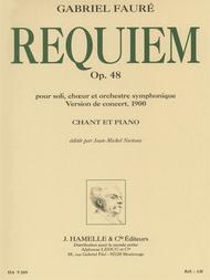 Gabriel Faure - Requiem Pour Soli, Ch'ur Et Orchestre Symphonique Op. 48 (version De 1