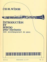 Charles-marie Widor - Introduction Et Rondo Pour Clarinette Avec Accompagnement De Pian