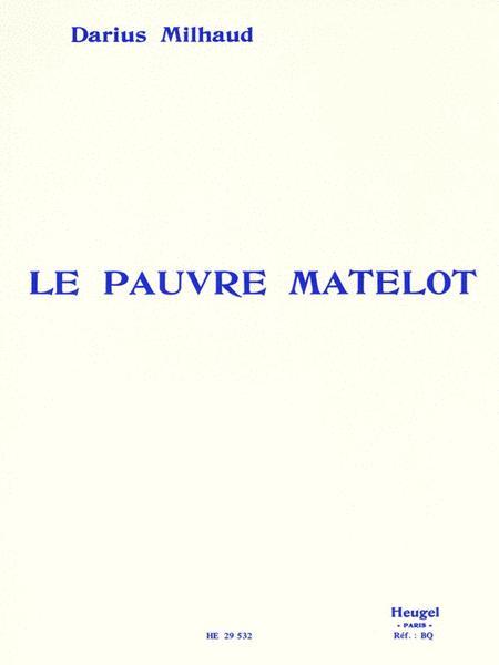 Milhaud Darius Pauvre Matelot Voice & Piano Book