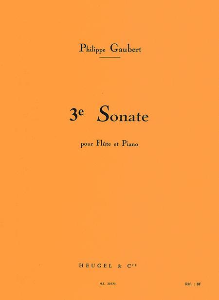 Troisieme Sonate Pour Flute Et Piano
