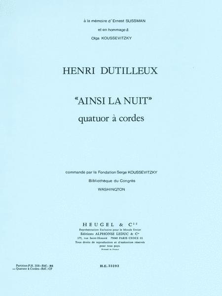 Ainsi La Nuit -Quatuor Strings