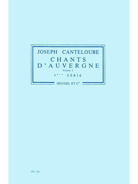 Chants dAuvergne Vol.3: Orchestra