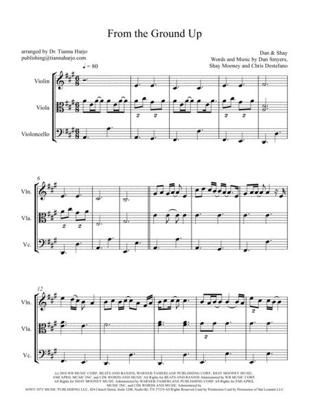 From The Ground Up - String Trio (violin, viola, cello)