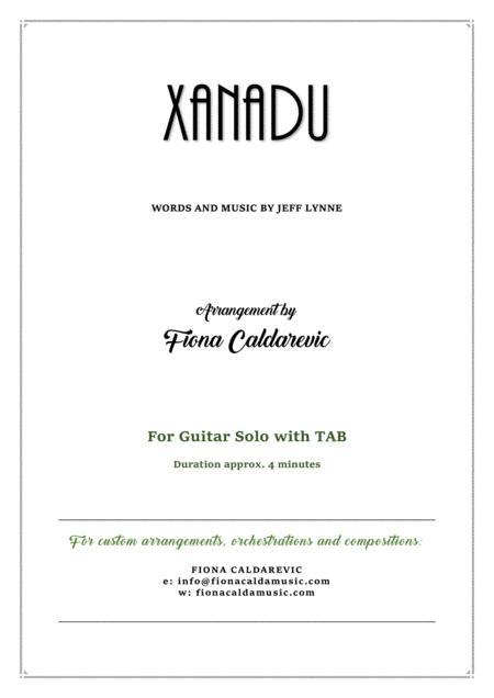 Xanadu - for fingerpicking guitar with TAB