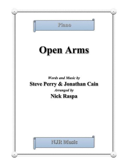 Open Arms (intermediate piano)