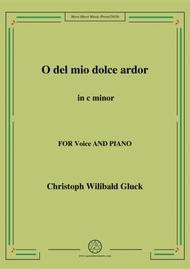 Gluck - O del mio dolce ardor in C minor for voice and piano