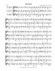 Missa prima a 3 (Asola) — SSA or TTB