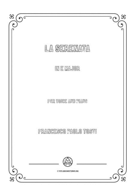 Tosti - La Serenata in E Major for voice and piano