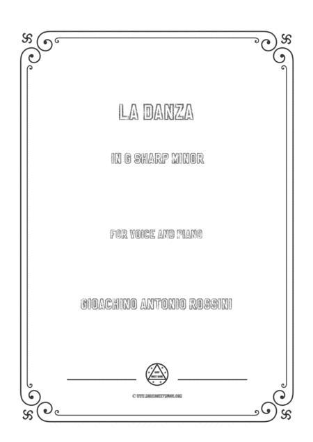 Rossini - La Danza  in F sharp minor for voice and piano