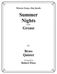 Summer Nights (from Grease) for Brass Quintet