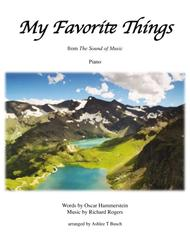 My Favorite Things for Piano