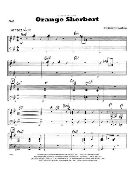 Orange Sherbert - Piano