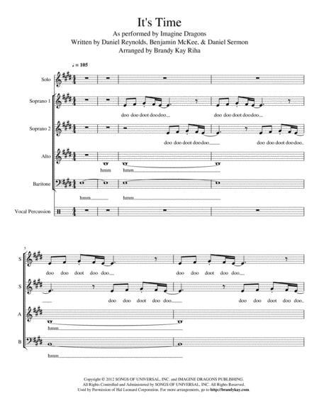 It's Time (SAB a cappella)