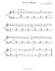 Away in a Manger (Easy Piano)