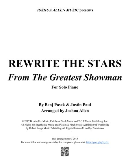 Rewrite The Stars from THE GREATEST SHOWMAN