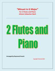 Minuet in G Major - J.S.Bach - 2 Flutes and Piano