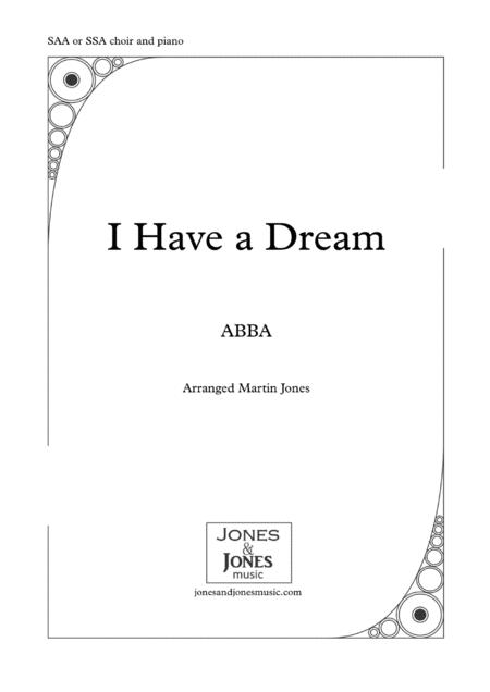 I Have A Dream SSA or SAA choir and piano