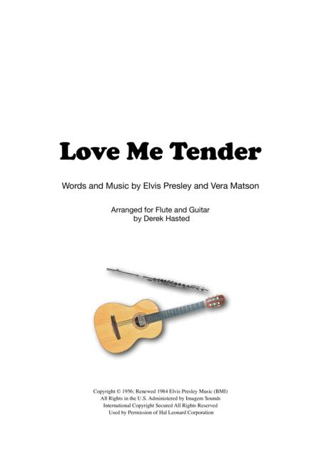 Love Me Tender for easy Flute & Guitar