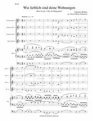 Wie lieblich sind deine Wohnungen (How lovely is Thy dwelling place) for clarinet quartet and organ