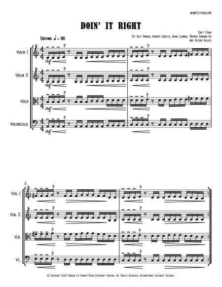 Doin' It Right - String Quartet