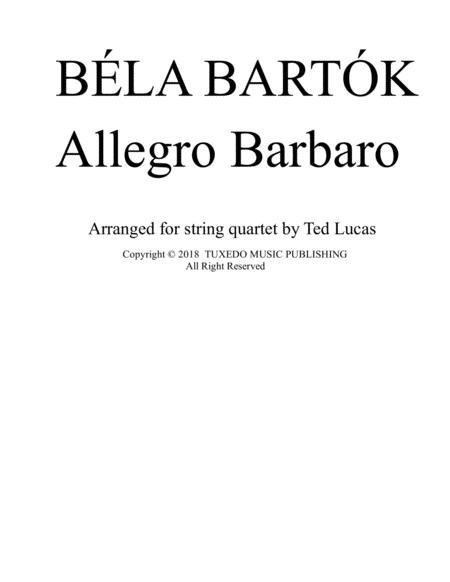 Allegro Barbaro (full score)