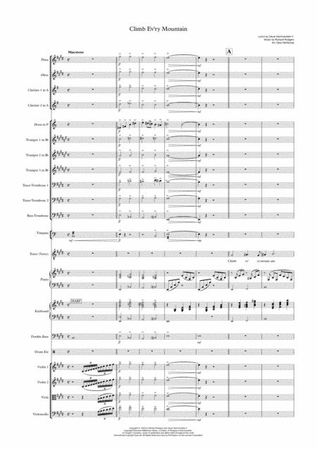 Climb Ev'ry Mountain - Tenor Voice and Orchestra (or Big Band with Strings) Key of E
