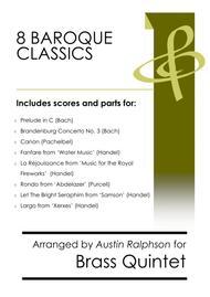 8 Baroque Classics - brass quintet bundle / book / pack