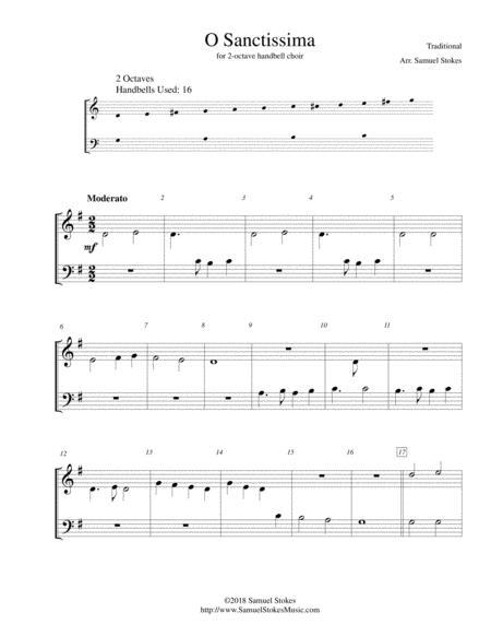 O Sanctissima (Oh, How Joyfully) - for 2-octave handbell choir